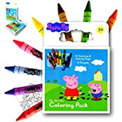 Peppa Pig On The Go Coloring Book Activity Set With A Set Of Over Sized Jumbo Crayons Also Included Is 1 Large...