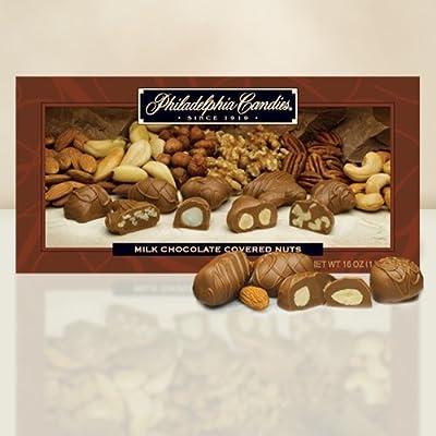 Philadelphia Candies Milk Chocolate Covered Nuts Gift Box