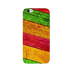 RICKYY _ip6_1294 Printed matte designer Red Yellow and green wood case for Apple iPhone 6