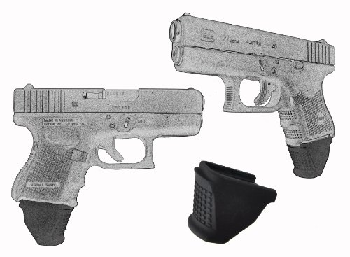 "2 Pack For Glock Models 26 27 33 39 Sub Compact 1.5"" Extra Long Garrison Grip Extension"