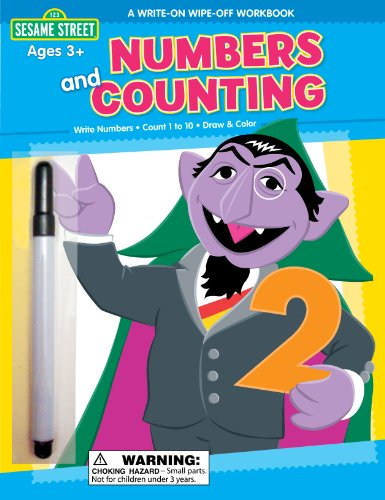 Numbers and Counting: A Write-on Wipe-off Workbook (Sesame Street)