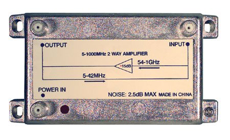 Mcr Group Inc Bidirectional Amplifier 15Db 12Vdc Adaptor Included 54-1000Mhz With Return Path