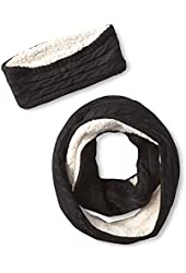 Dearfoams Women's Two-Piece Sherpa Scarf and Headband Set