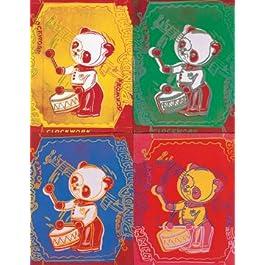 ANDY WARHOL - Four Pandas, 1983 (El panel de madera 65 x 84 cm) - Envío Gratis