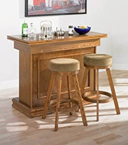 Amazon.com - 3pc All In One Game Table/Bar Unit & Bar Stools Set