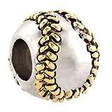 Christmas Gifts Sale Cheap Baseball I Love Sports Silver Plated Charm Beads Fit Pandora Jewelry Charms Bracelet