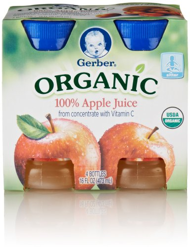 Gerber Organic Juice Apple, 4-Count, 4-Ounce Bottles front-263719