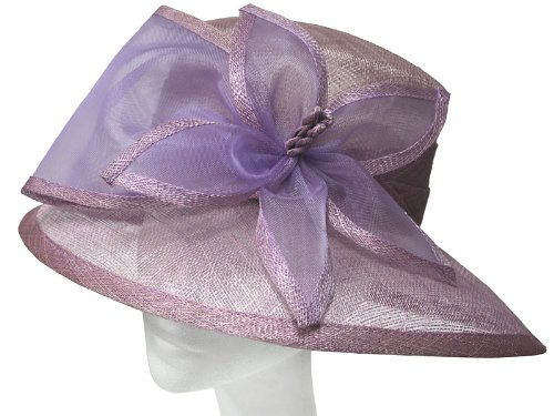 Womens Beautiful and Elegant New Sinamay Fashion Formal Hat Detailing Large Flower Mesh Net. Ideal for Weddings, Races, Ascot and Other Special Occasions. Available in Light Blue, Navy w/ Flower Cream, Lilac, Natural Cream and Light Pink Colours.