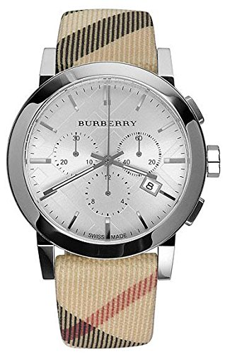 Burberry Mens City Leather Strap Nova Check Watch BU9357