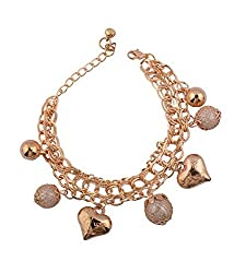 Trinetra Gold plated Fashion Bracelet for Girls