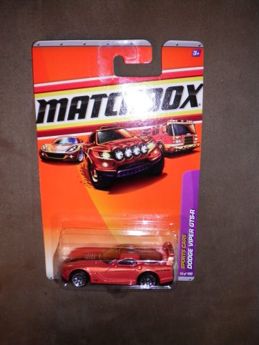 MATCHBOX 2010 SPORTS CARS 10/100 ORANGE COPPER DODGE VIPER GTS-R