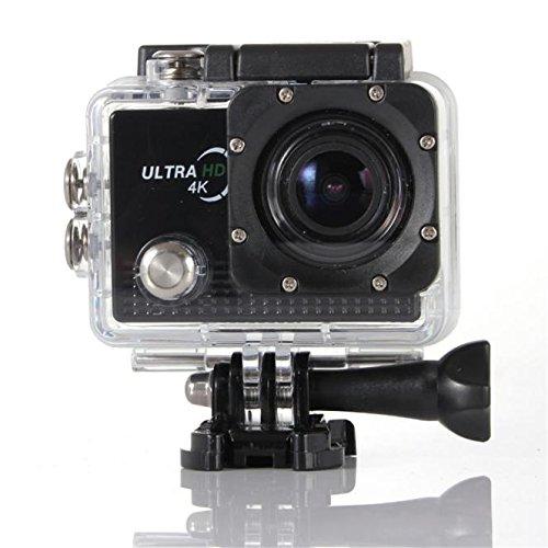 """Lacaca - video/fotocamera sportiva ELE CAM Explorer con Wi-Fi, impermeabile, 16MP, 4K, 1080P, 64GB e lenti da 170° H.264HDMI, fotocamera per uso all'aria aperta, protezioni antivibrazione, super HD con LCD da 2.0"""", per moto d'acqua, snorkeling e sport acquatici, nero"""