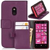 DONZO Wallet Structure Tasche für Nokia Lumia 620 Violett