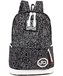 Mooncolour School Canvas Backpack Travel Rucksack