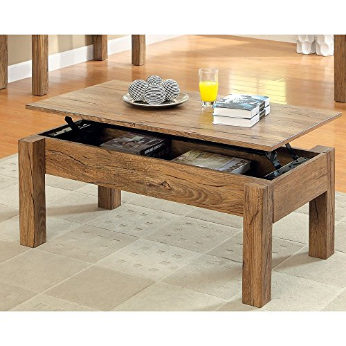 Amazon Teak Coffee Table: Furniture Of America Elize Lift-Top Storage Coffee Table