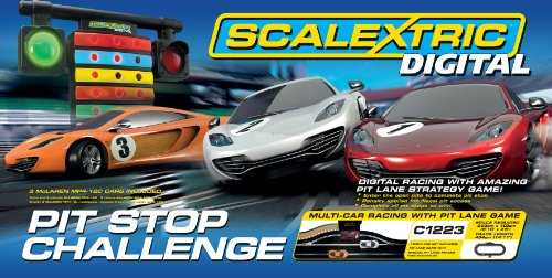 Scalextric 1:32 Digital Pit Stop Challenge Race Set - C1296T