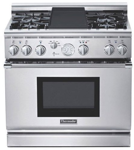 Thermador : PRD364EDPG 36 Dual-Fuel Range - Stainless Steel