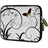 Amzer 7.75 Inch Neoprene Sleeve Snow Butterfly For Samsung GALAXY Tab 2 7.0, Google Nexus 7, Amazon Kindle Fire...