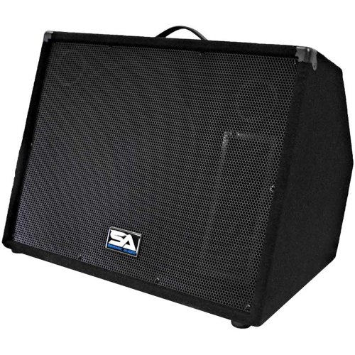 "Seismic Audio - Single 15"" Floor Monitor Studio, Stage, Or Floor Use - Pole Mounts For Pa/Dj Speaker - Bar, Band, Karaoke, Church, Drummer Use"