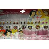 Set Of 4 Disney Princess Stick On Earrings, And Disney Princess Ring Set, Featuring Disney Princess Cinderella...