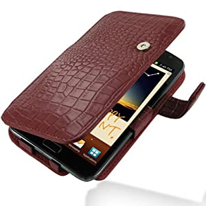 PDair B41 Red Crocodile Pattern Leather Case for Samsung Galaxy Note GT-N7000
