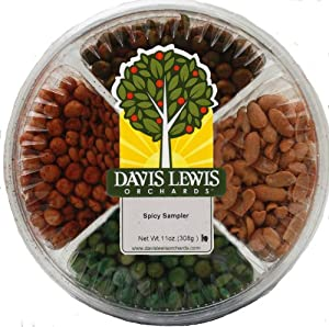 Davis Lewis Orchards Roasted Nuts, Spicy Sampler, 11 Ounce by Davis Lewis Orchards