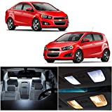 LEDpartsNOW 2012-2015 CHEVY SONIC Xenon White Premium LED Interior Lights Package (6 Pieces)