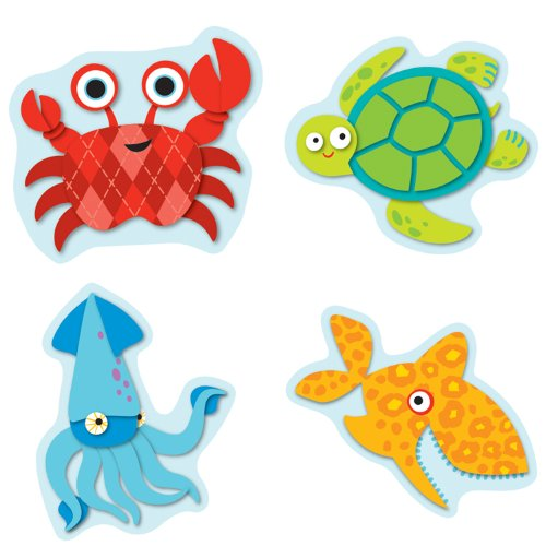 Seaside Splash Shape Stickers - 1