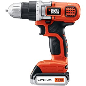 Black & Decker LDX116C 16V MAX Lithium Ion Drill / Driver