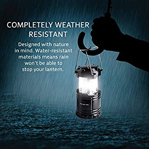 Divine LEDs Bright 2 Pack Portable Outdoor LED Camping Lantern, Black, Collapsbile from Divine LEDs