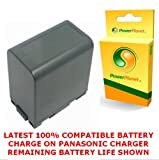 PowerPlanet VW-VBG6 Panasonic High Capacity Compatible Camcorder 2 Year Warranty Battery for Panasonic VW-VH04 (not supplied) and Panasonic SDR-H40, SDR-H50, SDR-H60, SDR-H79, SDR-H80, SDR-H81, SDR-H90