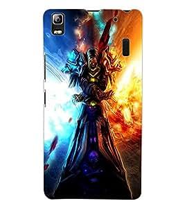 ColourCraft The Demon Design Back Case Cover for LENOVO K3 NOTE