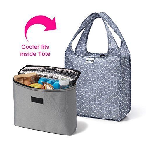 rume-bags-mini-tote-with-2cool-insulated-lunch-bag-cooler-set-of-2-marshall-grey