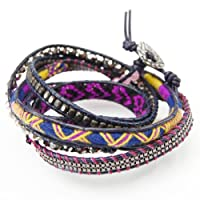 [ナカモル] NAKAMOL ラップブレスレット エスニックで洗練された魅力的なデザインに虜になるブレス