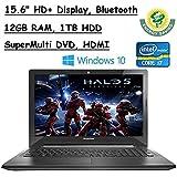 "Newest Flagship Model Lenovo 15.6"" Premium High Performance HD+ Laptop, Intel Core I7-6500U, 12GB RAM, 1TB HDD..."