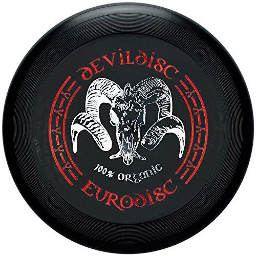 Eurodisc Frisbee di plastica organica biologica Devil Disc, 175 g, 4.0, colore: nero
