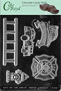 Cybrtrayd J083 Firefighter Kit Chocolate Candy Mold with Exclusive Cybrtrayd Copyrighted... by Life Of Party Molds