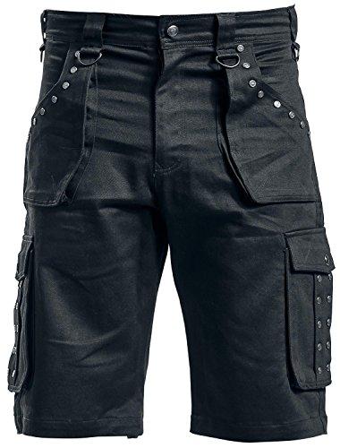 Gothicana by EMP Dark Summer Shorts Pantaloncini nero 40