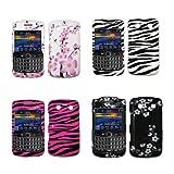 Premium Design Cell Phone Hard Cover Case for Blackberry Bold 2 9700 Onyx (Choose from 7 Designs; Black/White Zebra, Hot Pink/Black Zebra, Spring Flowers, Carbon Fiber Stars, Midnight Flowers, Purple Love Heart, Purple Flower)