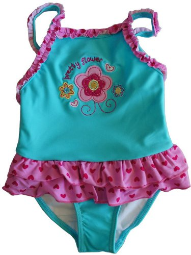 ベビーワンピース水着 スイムウエア Baby Swim wear prettyflower size:3M~6M~9M~12M~18M~23M (12-18M 80cm)