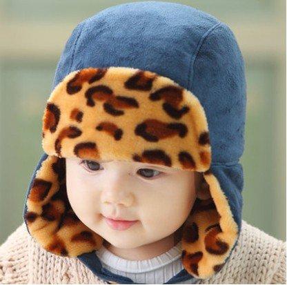 WeShop® - Nette Kinder Winter-Hippie Ohrenklappen-Mütze Lei Feng Cap 3745 Größe (50-52cm) - Blau