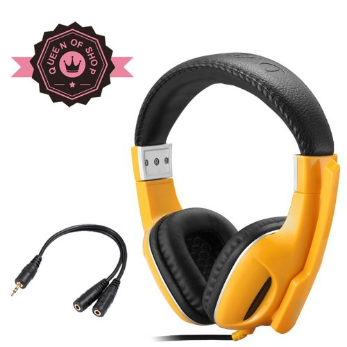 X5 Yellow Chevrolet Classic Color Hornet Gene Unique Speaker High Quality Metal Parts Spike Quickly Wired Pro Gaming Headset With Double Layer Plug Good Gift For Lol For Xbox 360