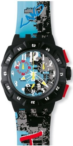 Swatch Chrono Plastic Funky Words Multi-Color Dial Men's Watch SUIB406