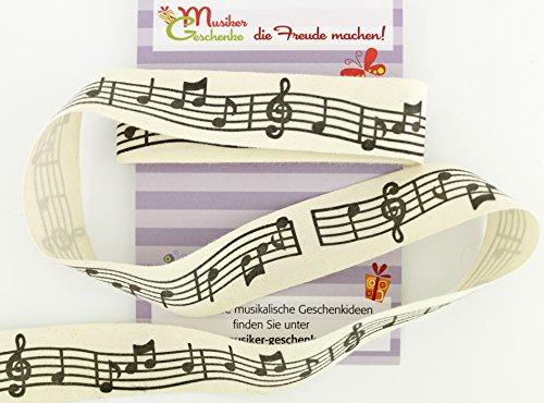 Geschenkband-mit-Notenzeile-Stoff-Schne-Deko-fr-Musikgeschenke