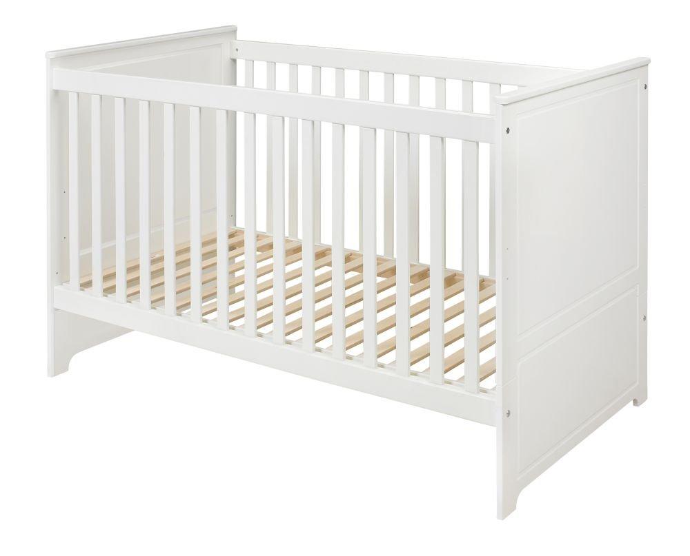 Babybett Bettchen für Babys exklusiv ohne Bettkasten elegant MARYLOU weiß