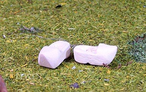 Schuhe aus Holz. Natur belassen. 2 cm. Krippenminiatur, Weihnachtskrippe. W096