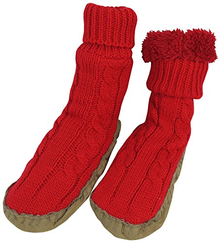 nice-caps-little-girls-cable-knit-slipper-socks-with-non-skid-gripper-soles-2-3-years-625-sole-lengt