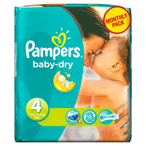 Pampers - Baby Dry - Couches Taille 4 Maxi (7-18