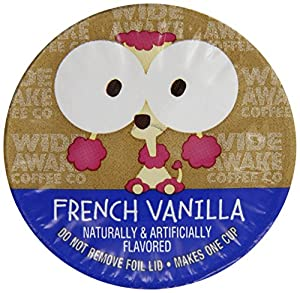 Wide Awake Coffee French Vanilla Single serve cup, 12 Ounce