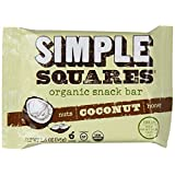 Simple Squares Organic Snack Bar, Coconut, 1.6 Oz. Bars, 12 Count